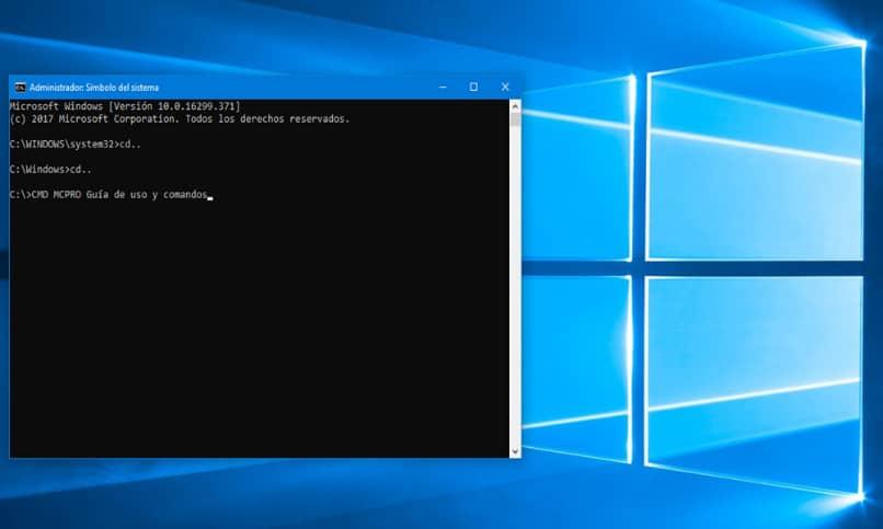 consola comandos windows