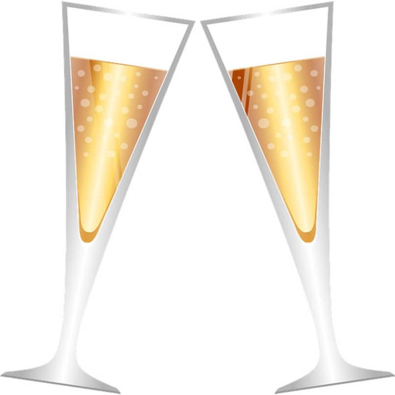 copas para celebrar el año nuevo