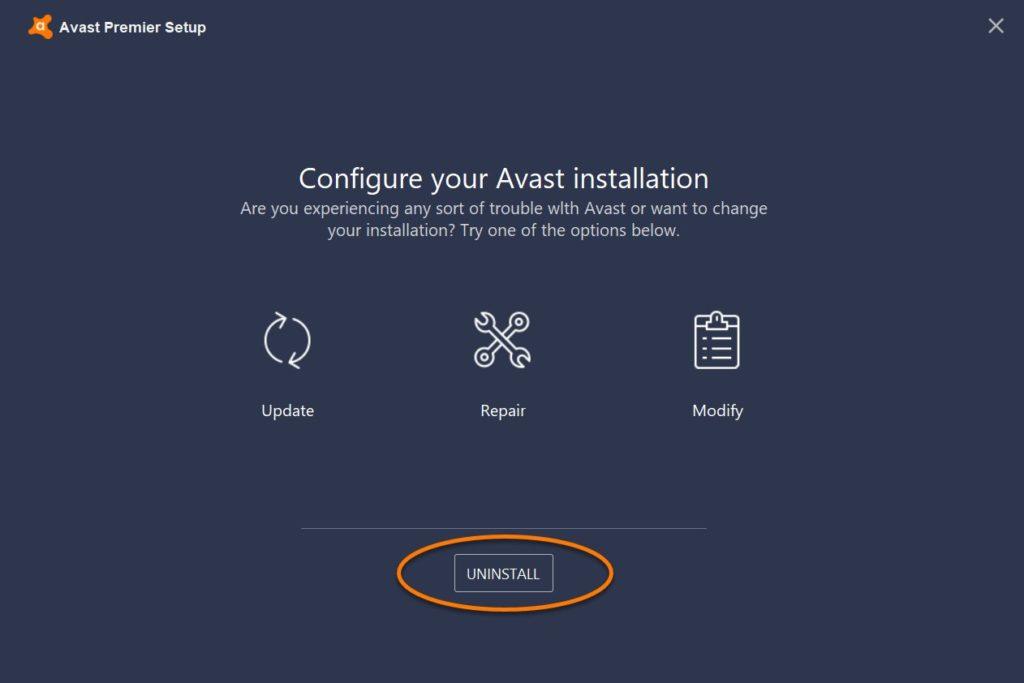 como desinstalar avast free antivirus windows 7