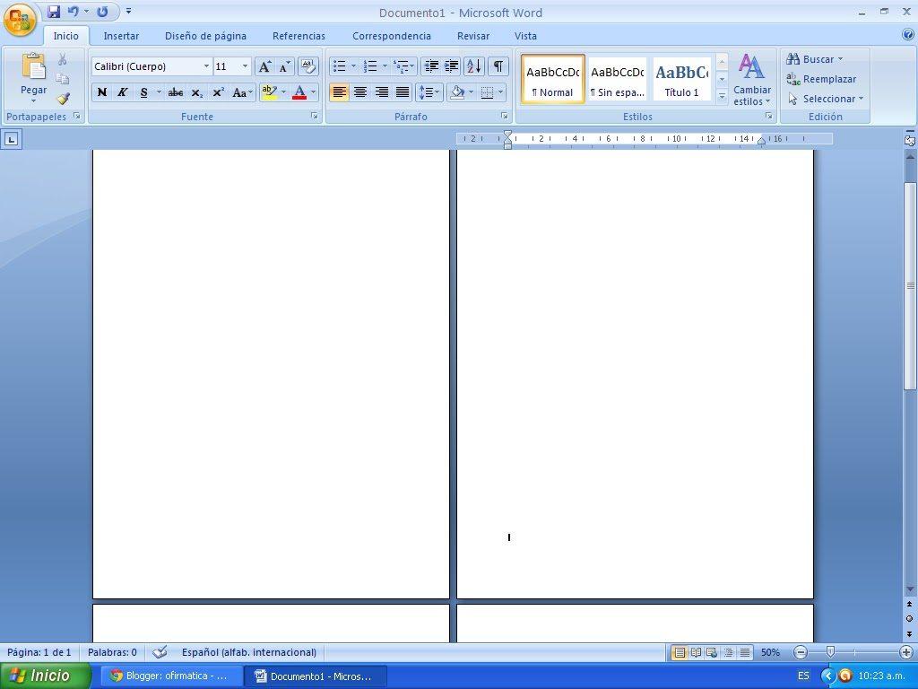 Enumerar Páginas Word
