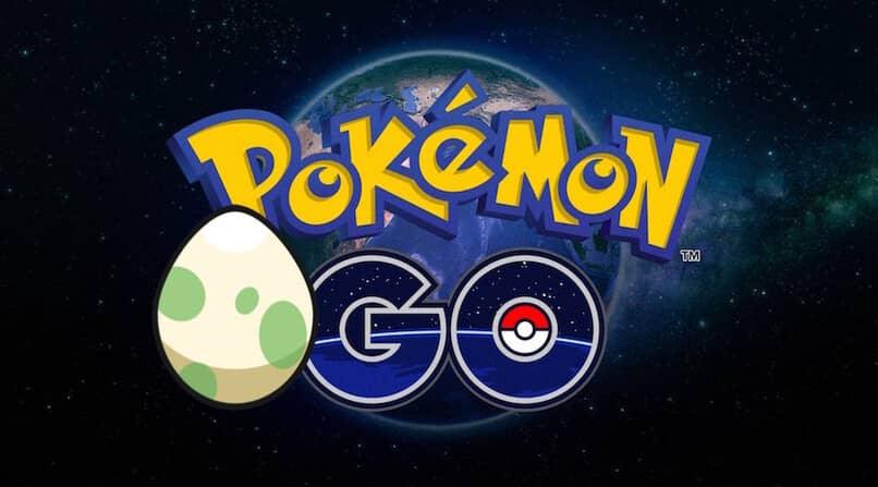 logo de pokemon con un huevo