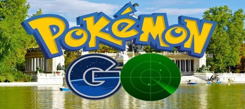 logo de pokemon go con radar debajo
