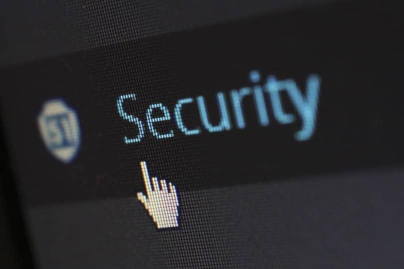 mouse sobre palabra security