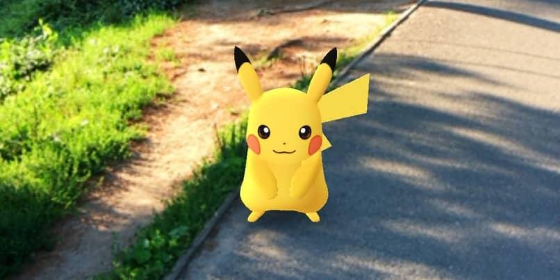 pikachu que ha sido capturado en la calle