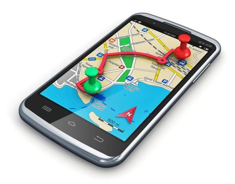 movil con google maps abierto