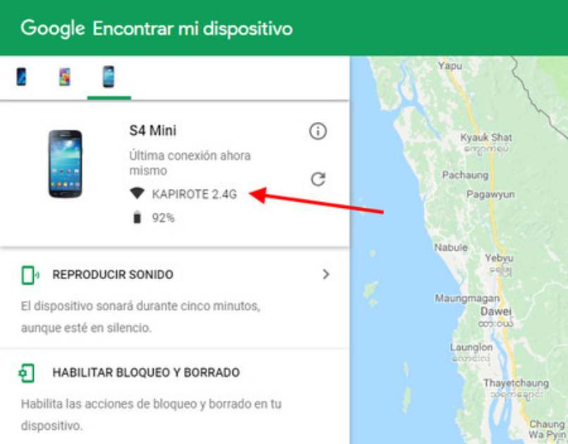 encontrar dispositivo por gps