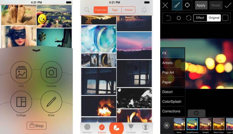 aplicación filtros imagenes