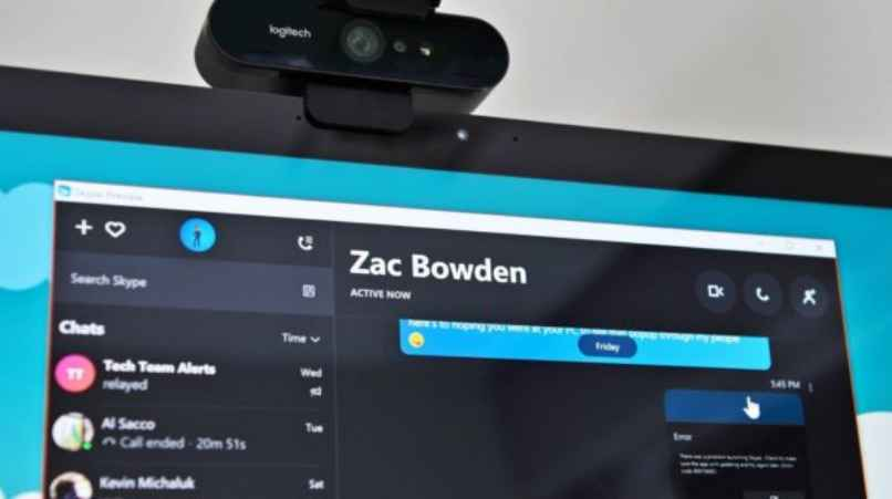 camara web skype