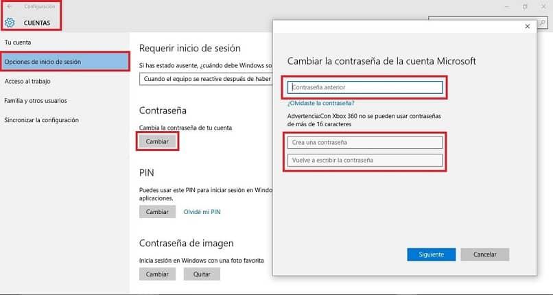 configurar clave de usuario