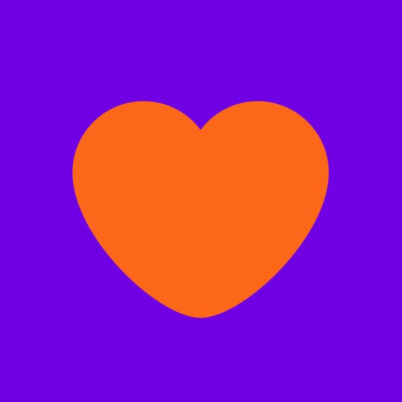 icono de badoo color naranja y violeta