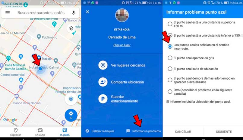 Corregir ubicación para mi negocio de Google Maps