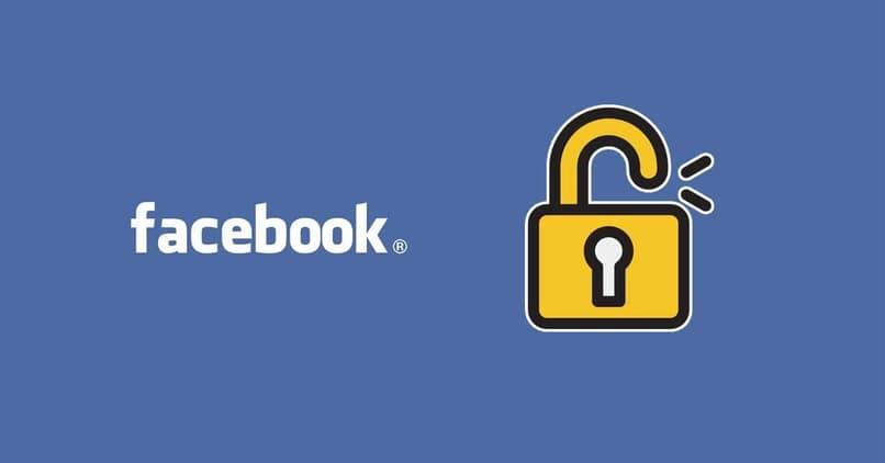 Logo de facebook con un candado
