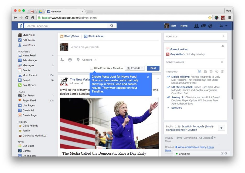Facebook no puedo publicar 1