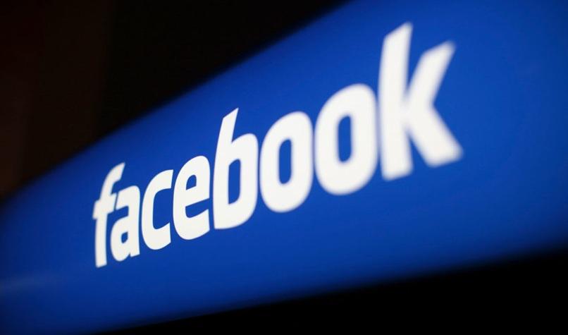 logo de facebook en diagonal
