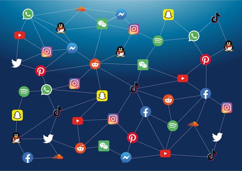 Iconos de redes sociales y wechat
