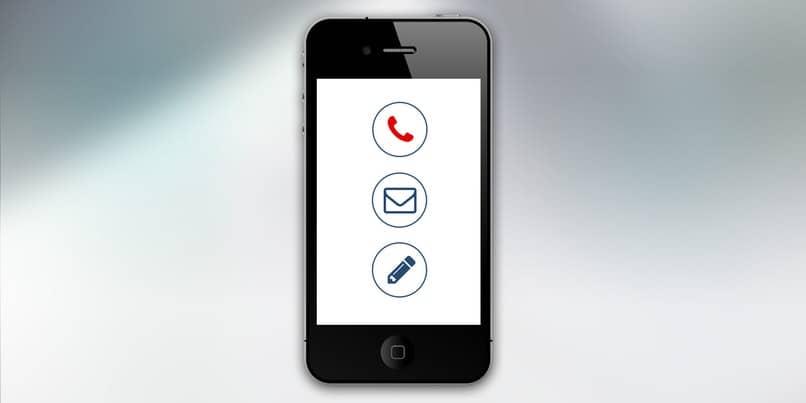 iphone sobre fondo blanco