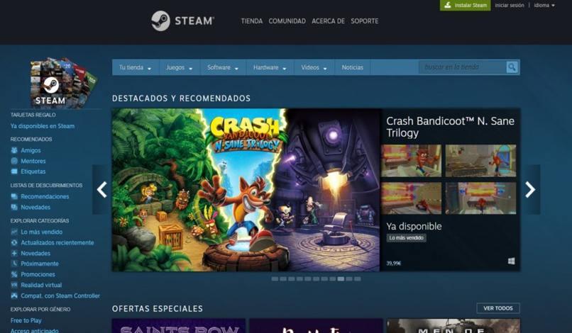 instalar juegos steam