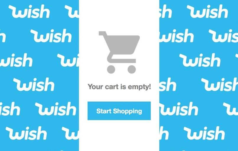 carrito vacio de compras en wish