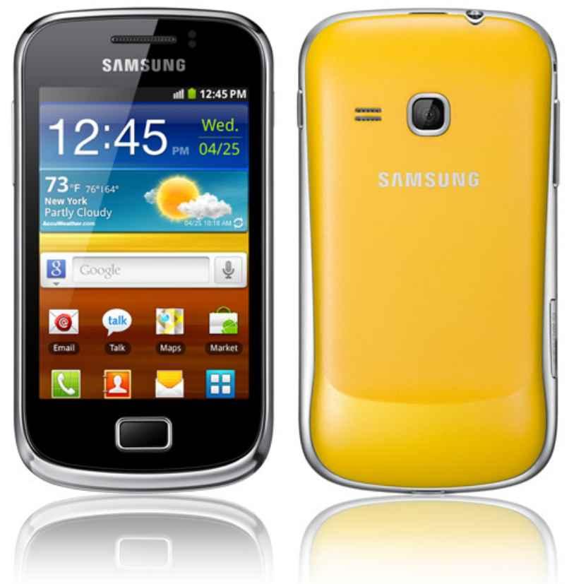 celular android amarillo