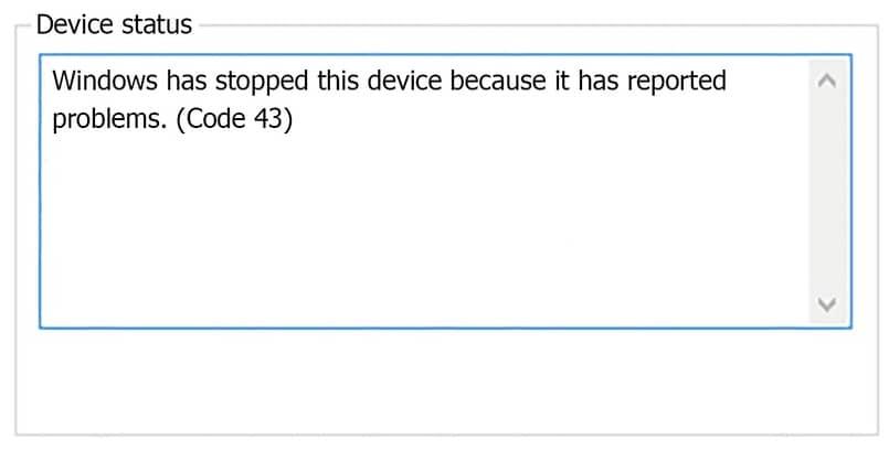 solucion del error 43 en windows