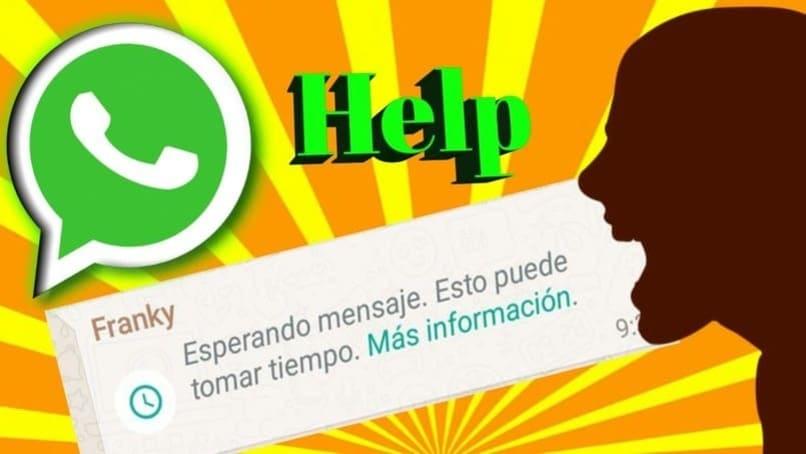 mensaje emergente en whatsapp esperando mensaje esto puede tomar un tiempo
