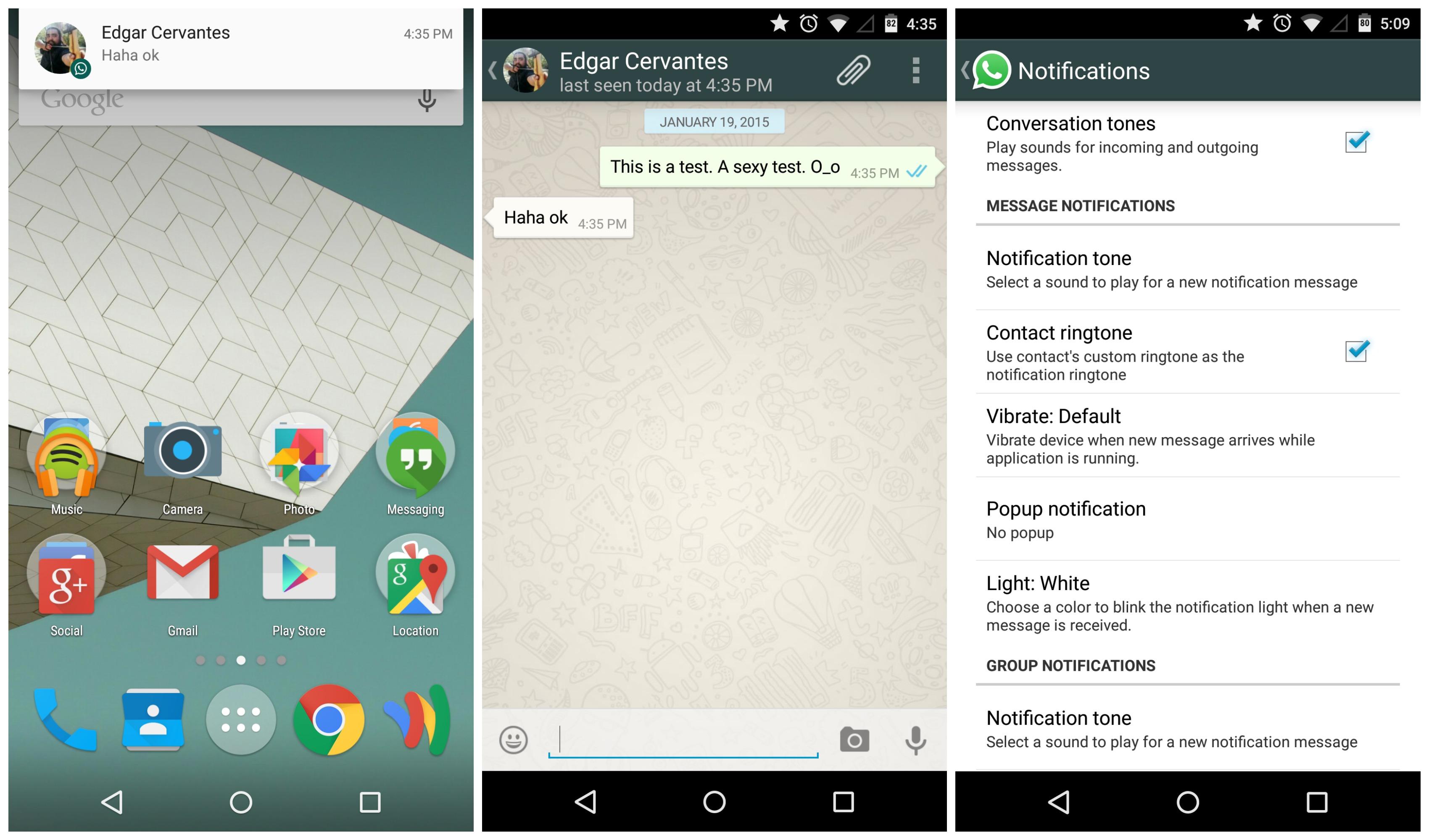 cambiar el sonido del whatsapp