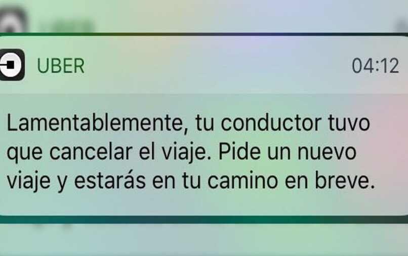 uber cancelar viaje