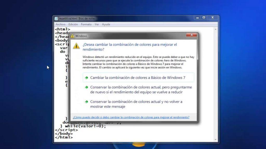 Windows Detectó que el Equipo tiene un Rendimiento Reducido 1
