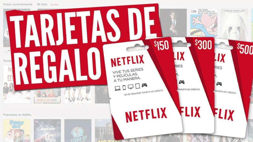 Canjear tarjetas regalo Netflix 1