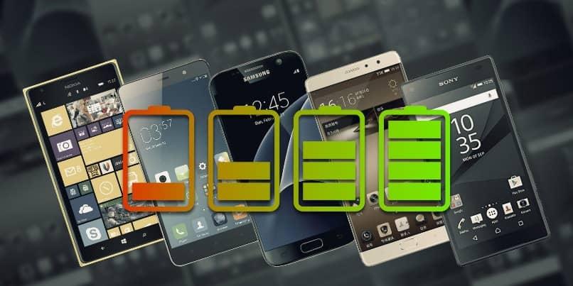 iconos de carga con multiples smartphones