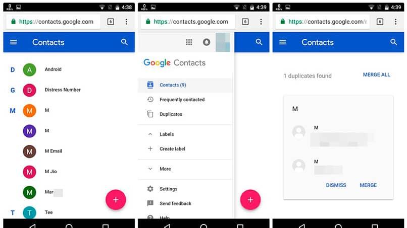 eliminar contactos sincronizados en google