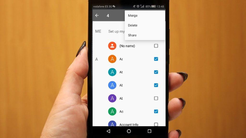 Eliminar todos los contactos Android 1
