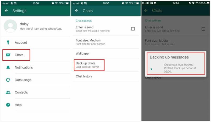 exportar datos chats whatsapp