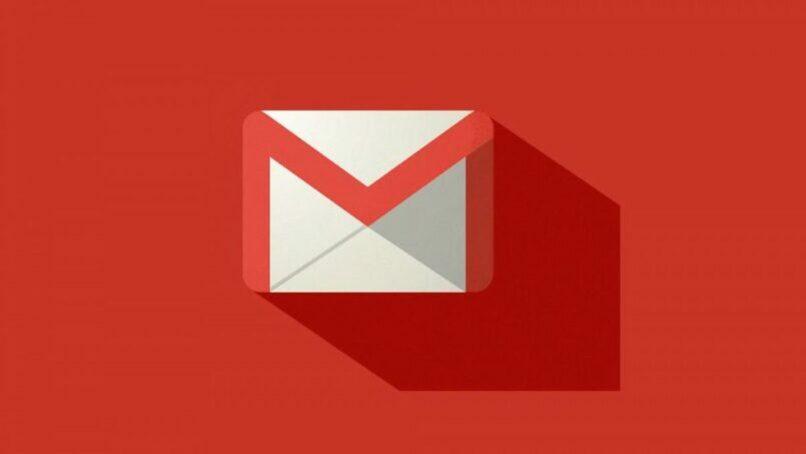 logo de gmail con fondo rojo
