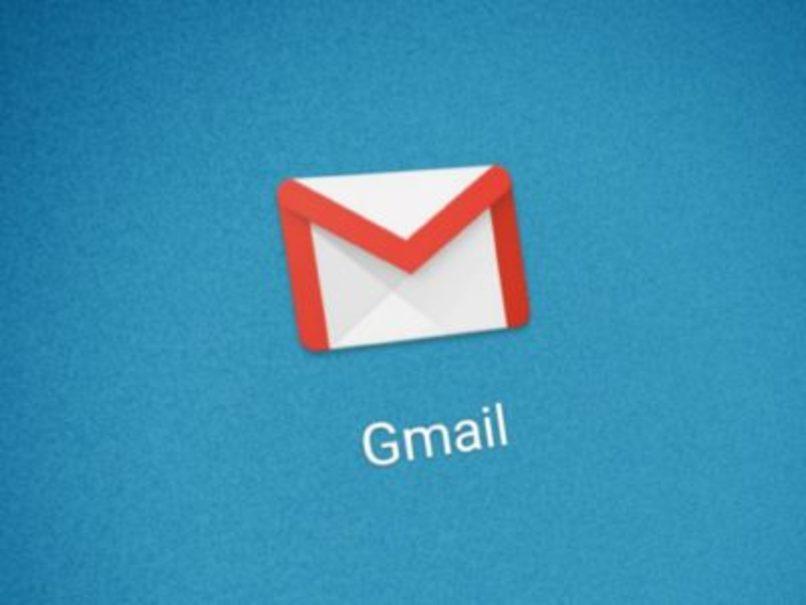 logo de gmail con fondo azul