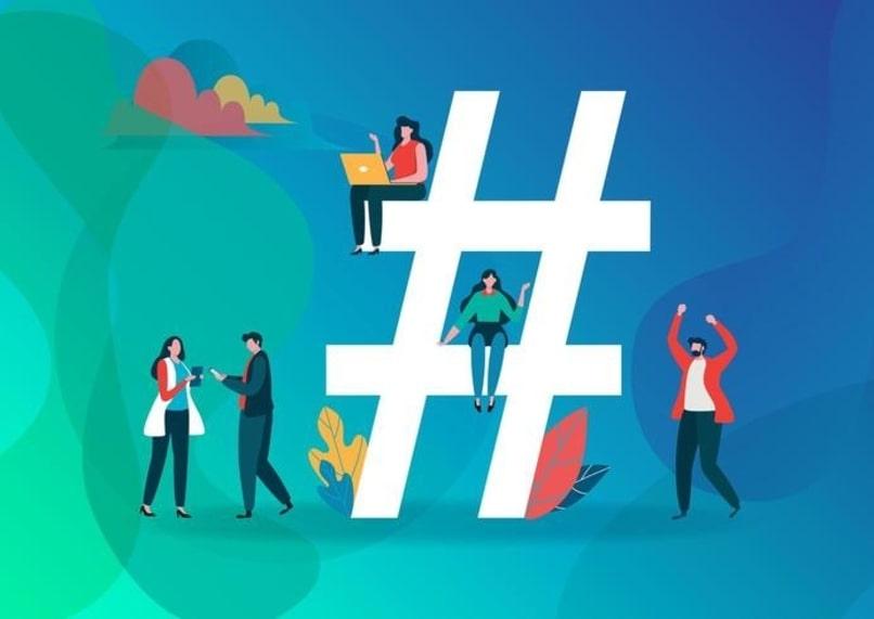 símbolo de hashtag blanco