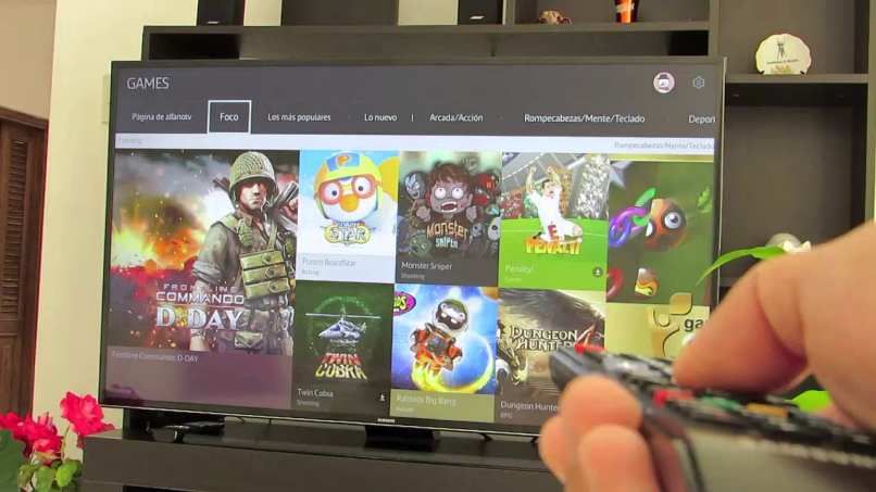 smart tv juegos pantalla de inicio