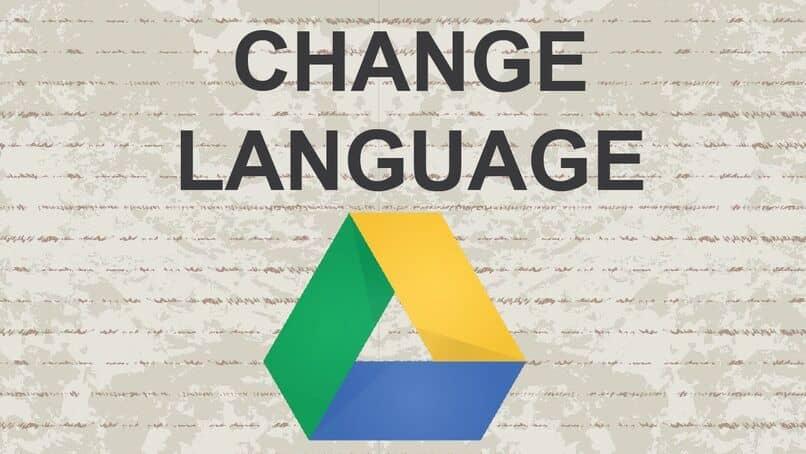 cambiar idioma google drive