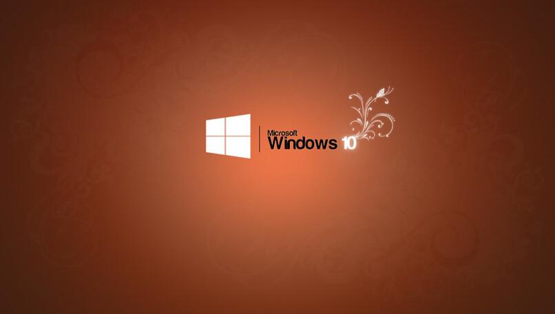 logo de windows con una flor y fondo rojo