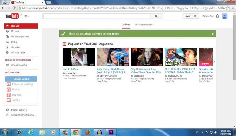 configurar pagina canal youtube