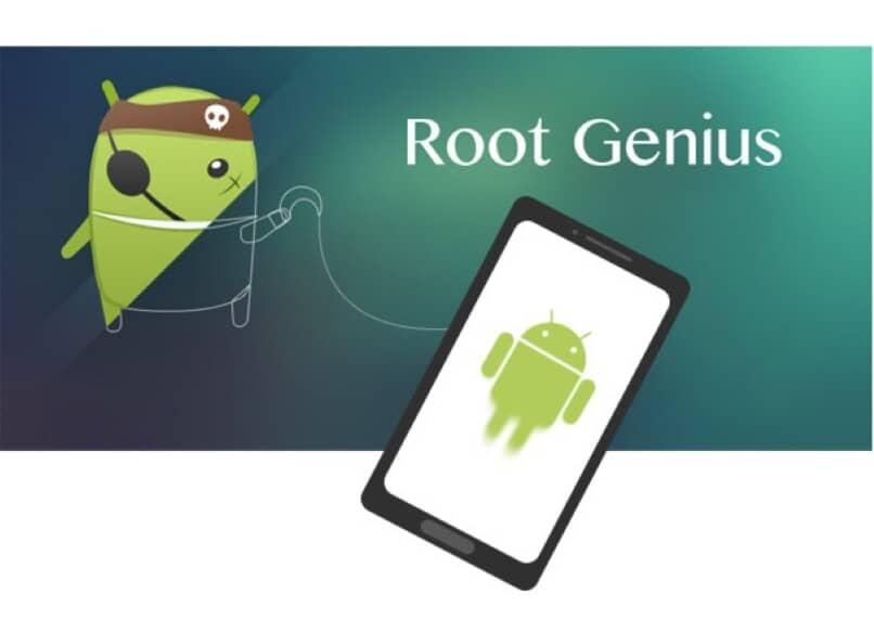 logo de android en movil