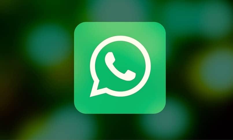 icono de whatsapp con el fondo desenfocado