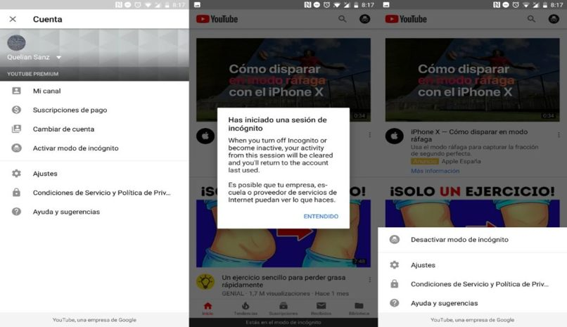 ajustes canal youtube
