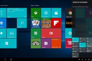 Modo Tablet de Windows 10 1