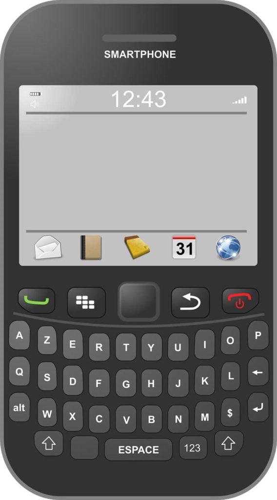 dispositivo movil blackberry color negro