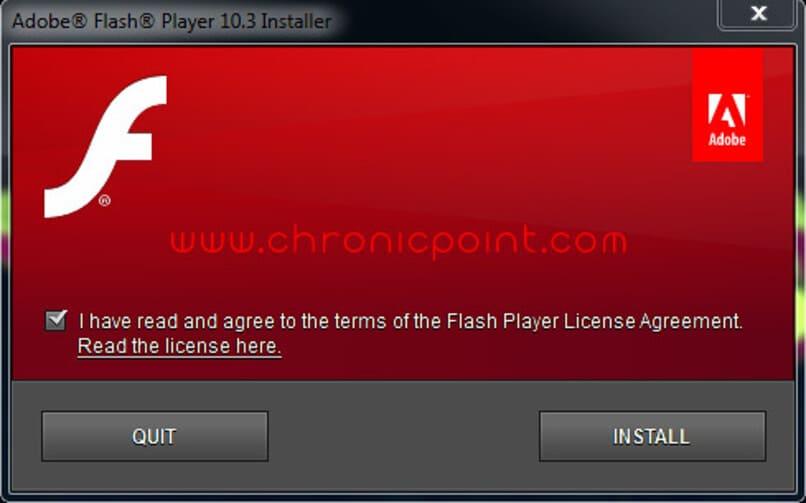 terminos y condiciones de adobe flash player
