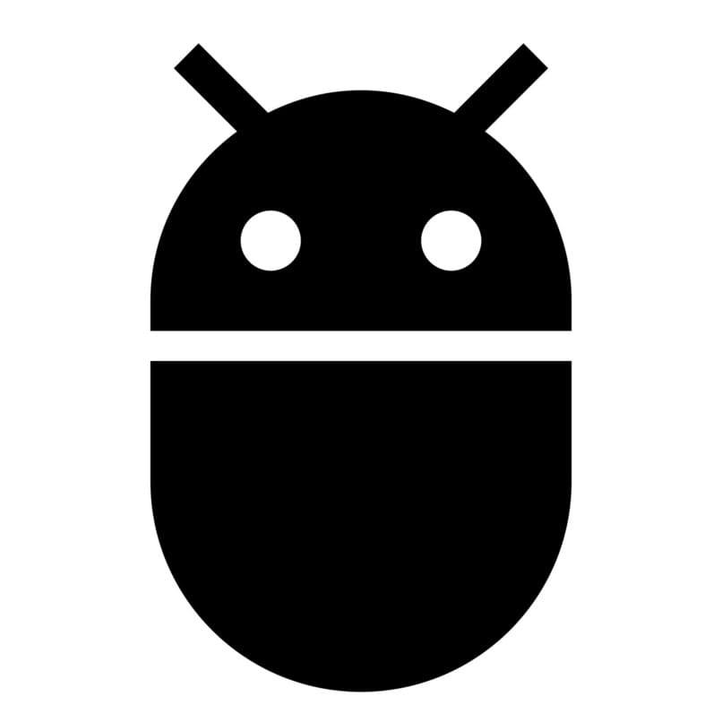 icono android color negro