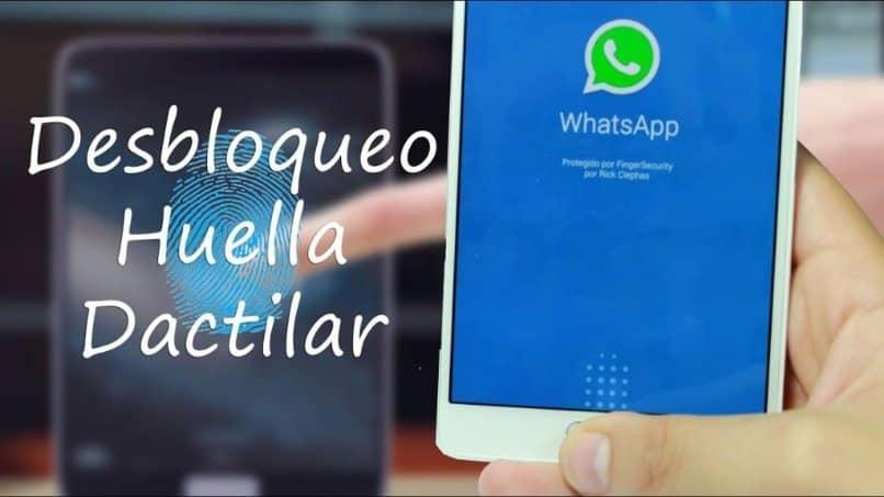 pantalla whatsapp bloqueo huella digital aplicaciones android