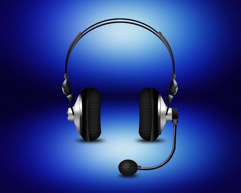 audifonos sobre un fondo azul