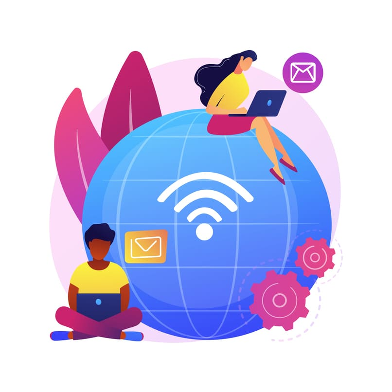 personas conectadas gracias a la red de internet